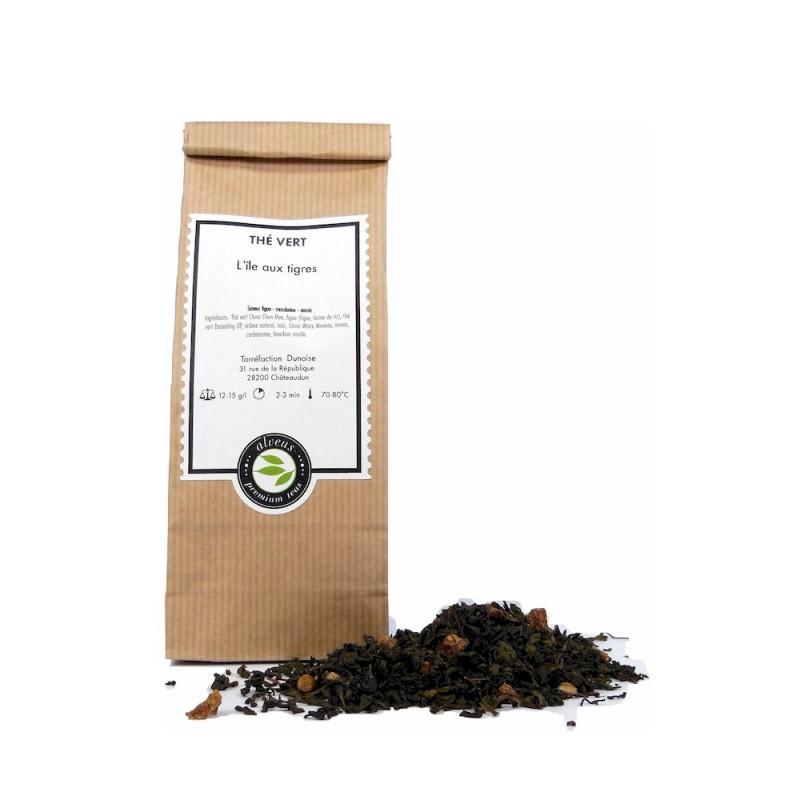 thé vert ile aux tigres