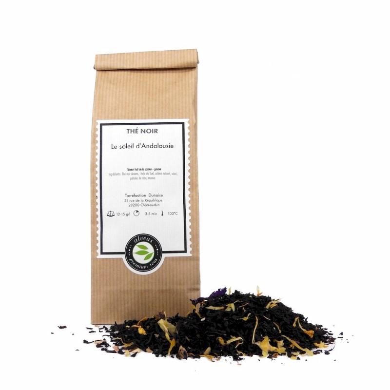 thé noir soleil Andalousie