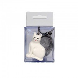 infuseur chat blanc