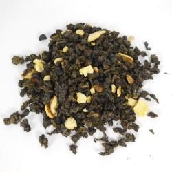 thé oolong orange feuilles