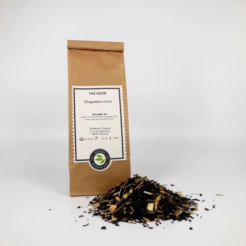 Thé noir gingembre citron bio