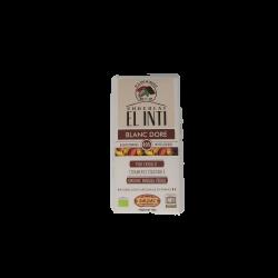 Tablette chocolat blanc doré bio