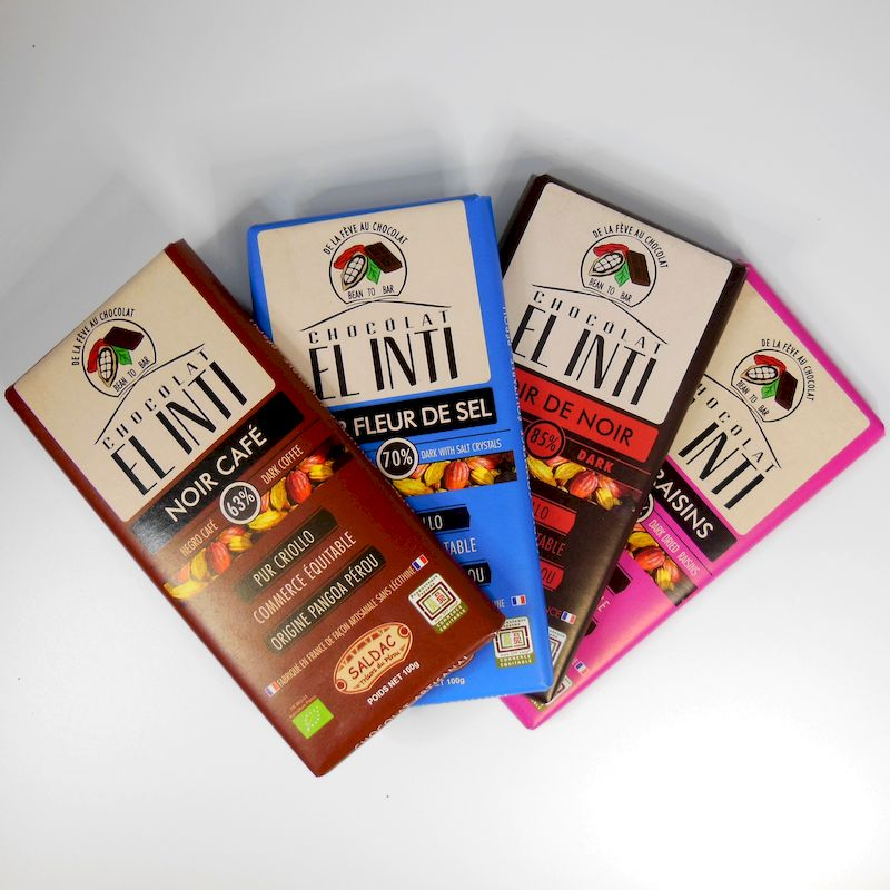 Tablettes chocolat noir El Inti